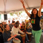 Jeni Swerdlow at Drummm Circle at SF Carnaval