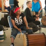 Lora Chiora playing dunun