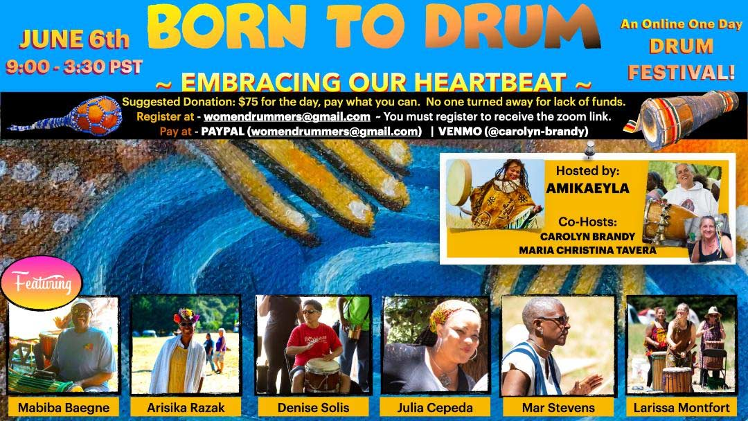Born To Drum: Embracing Our Heartbeat Poster